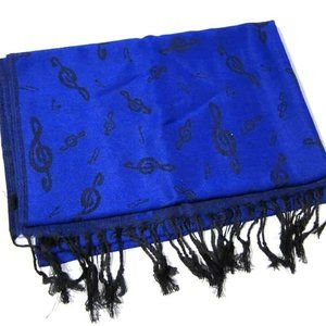 NWT  PASHMINA SCARF for the MUSIC LOVER